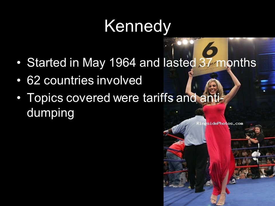 Kennedy Started in May 1964 and lasted 37 months 62 countries involved