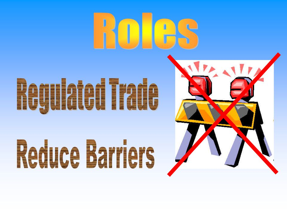 Roles Regulated Trade Reduce Barriers