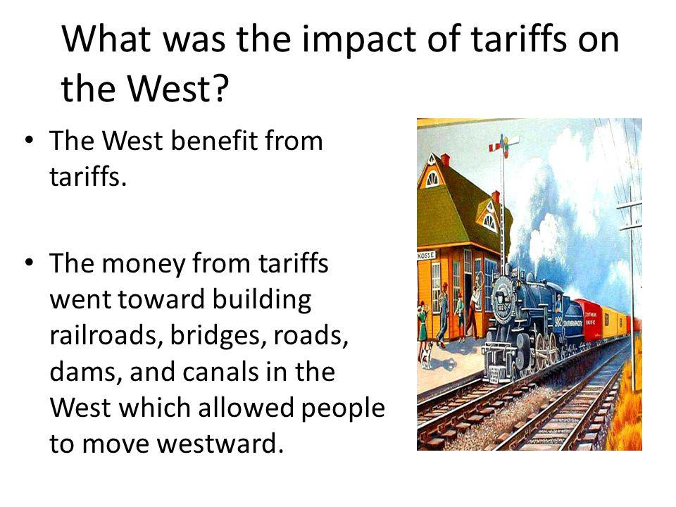 What was the impact of tariffs on the West