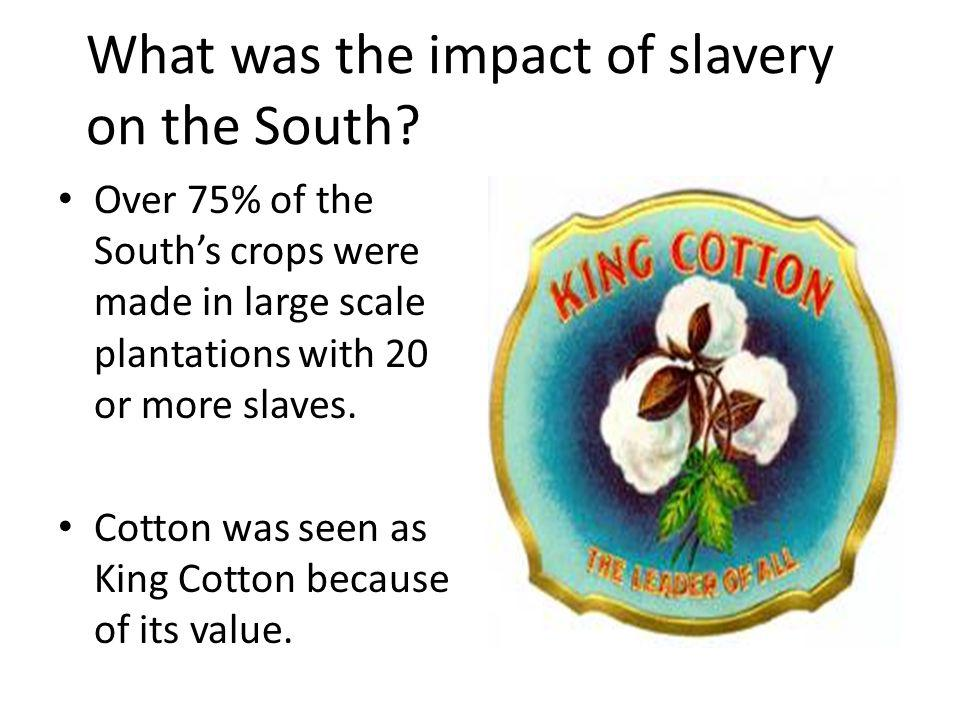 What was the impact of slavery on the South