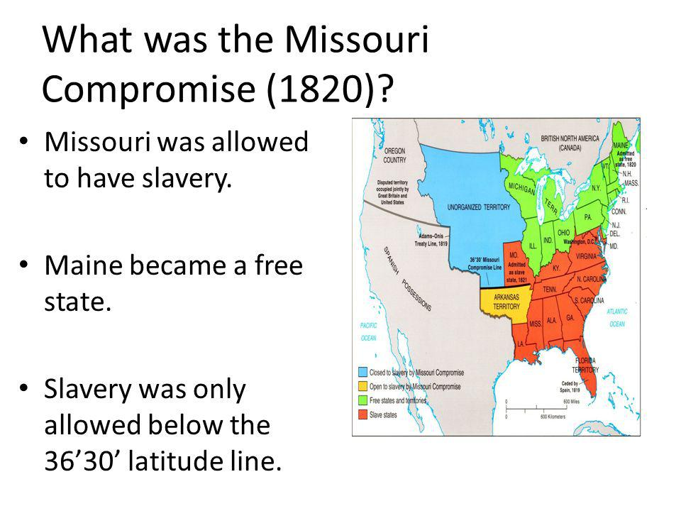 What was the Missouri Compromise (1820)