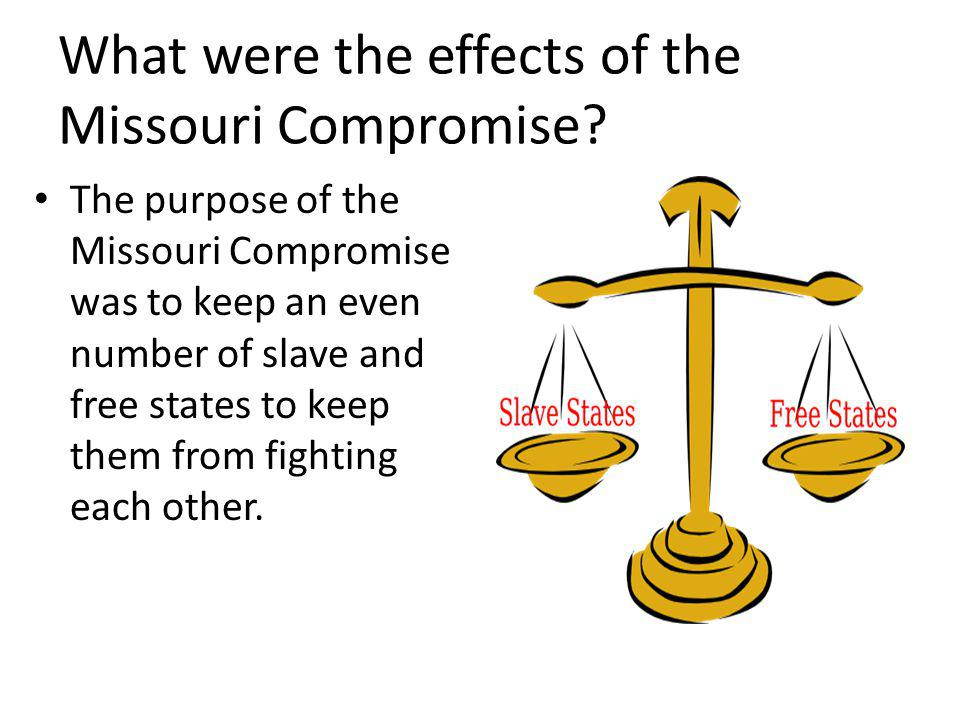 What were the effects of the Missouri Compromise