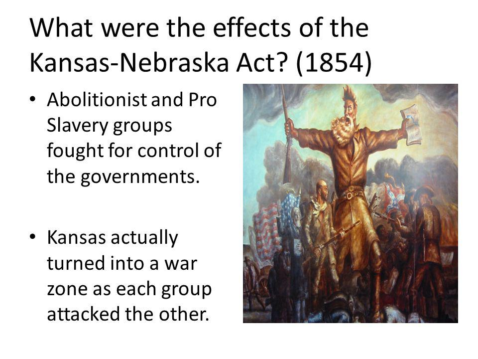 What were the effects of the Kansas-Nebraska Act (1854)