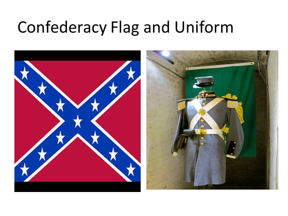 Confederacy Flag and Uniform