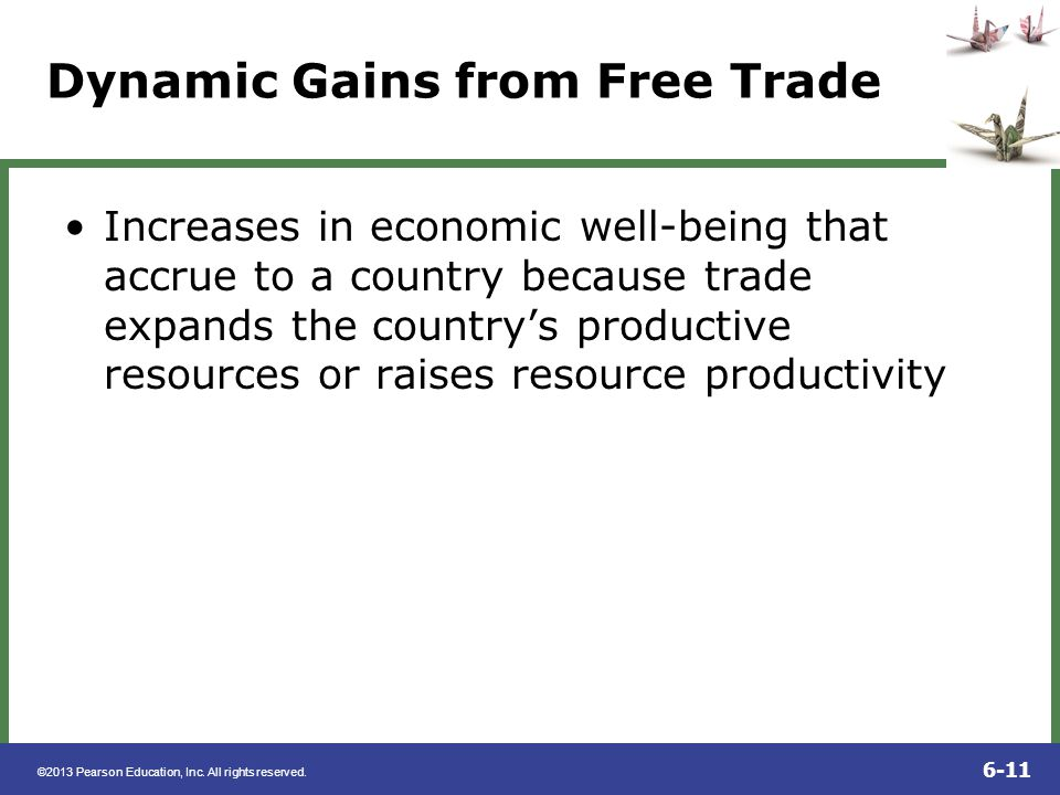 Dynamic Gains from Free Trade