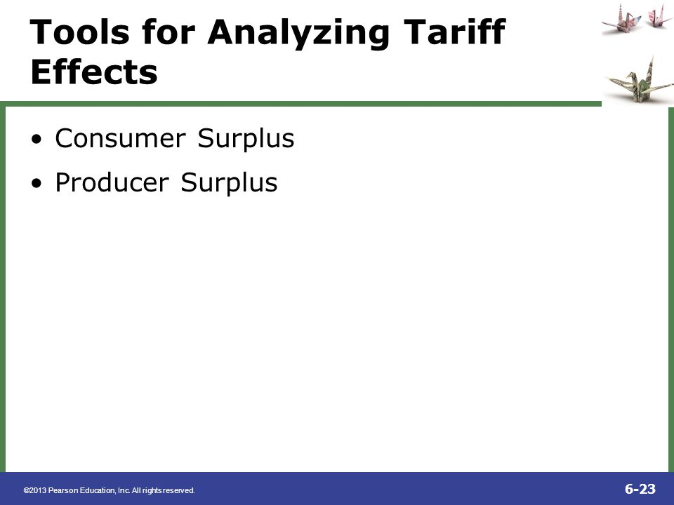 Tools for Analyzing Tariff Effects
