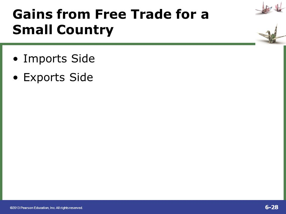 Gains from Free Trade for a Small Country