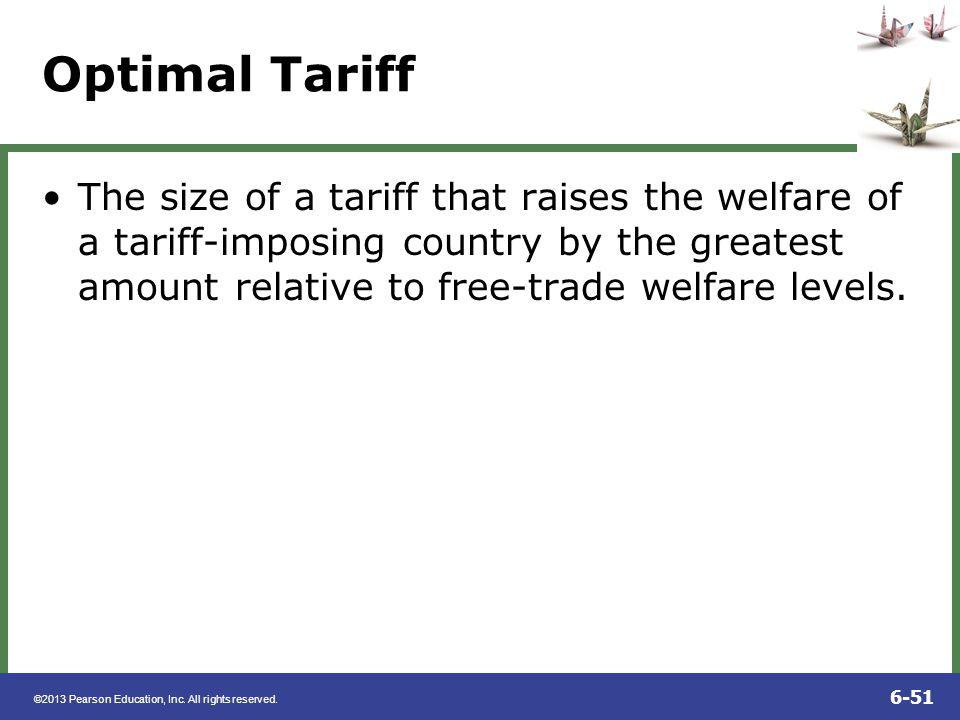 Optimal Tariff