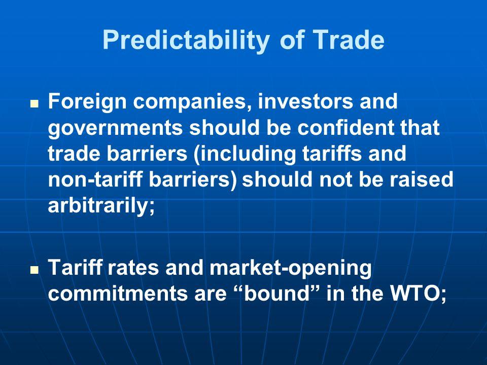 Predictability of Trade