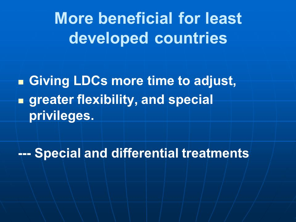 More beneficial for least developed countries