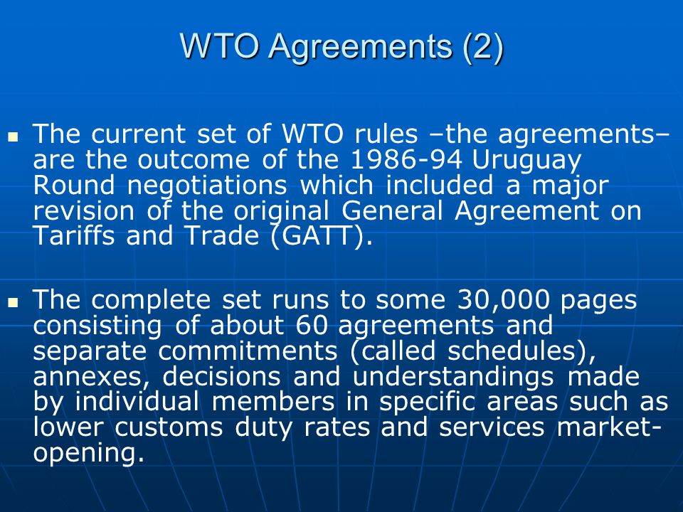 WTO Agreements (2)