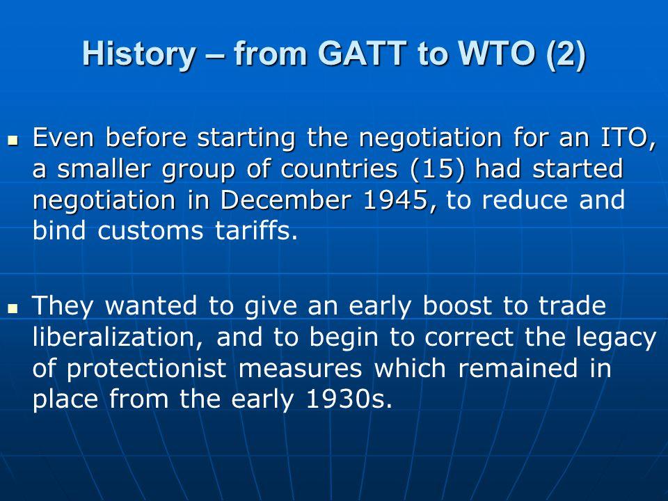 History – from GATT to WTO (2)