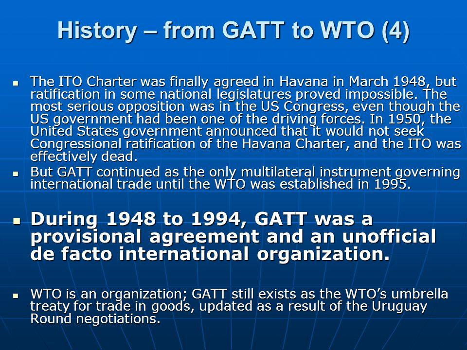 History – from GATT to WTO (4)