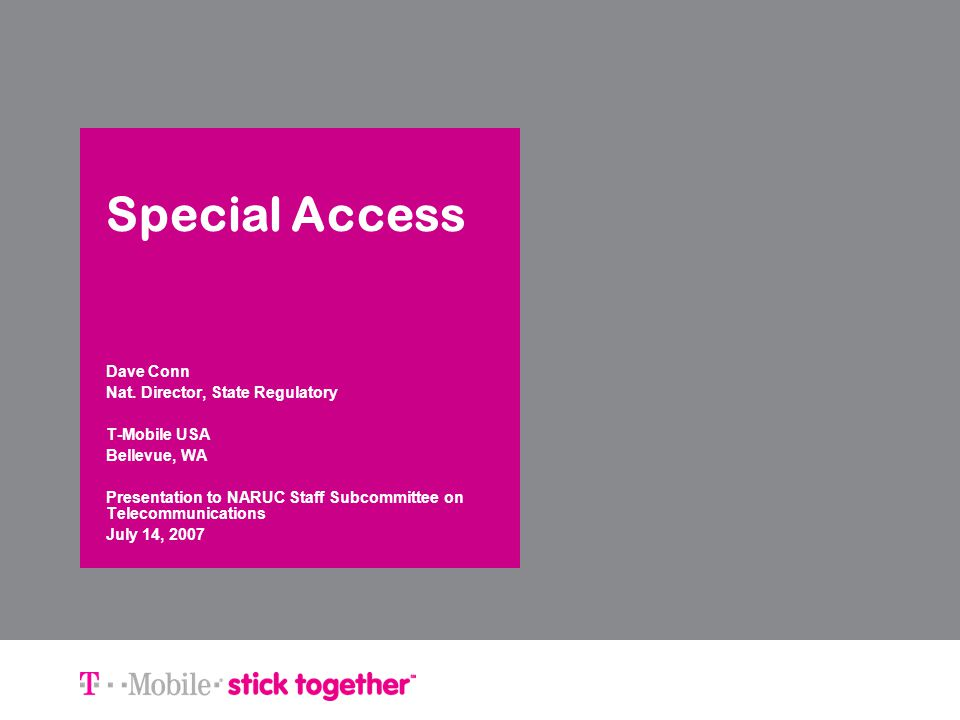 T-Mobile | stick together