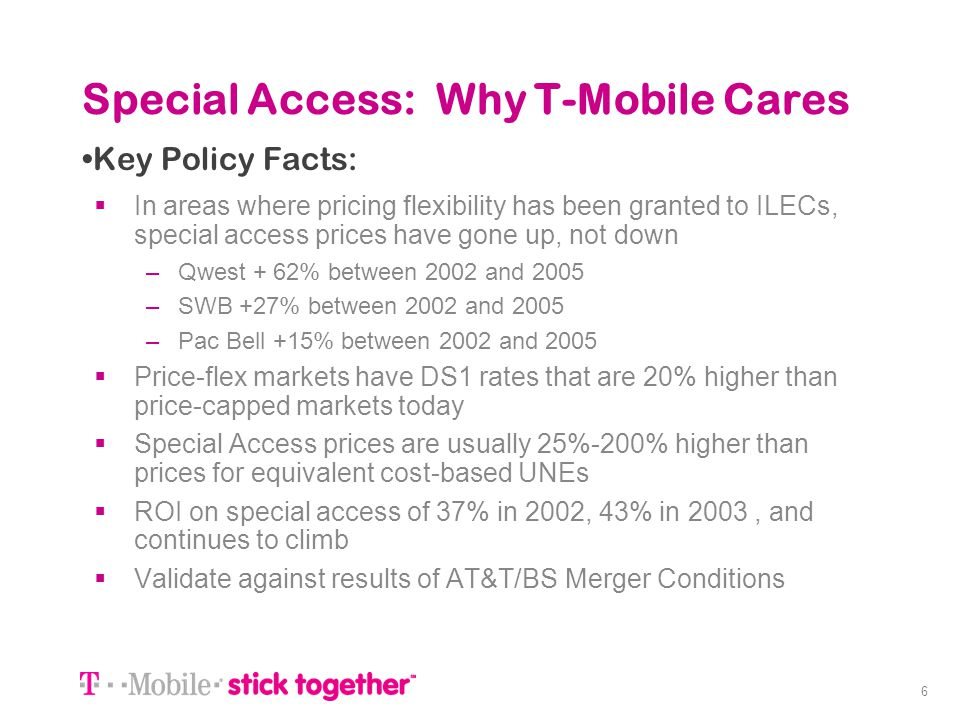 Special Access: Why T-Mobile Cares