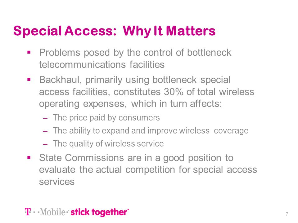 Special Access: Why It Matters
