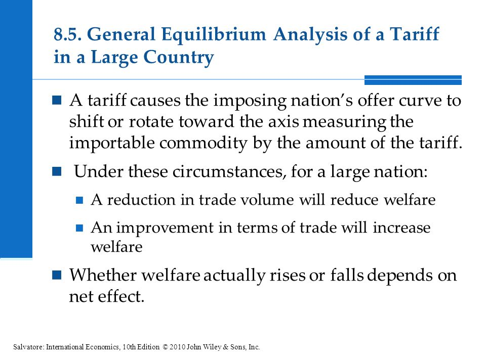 8.5. General Equilibrium Analysis of a Tariff in a Large Country