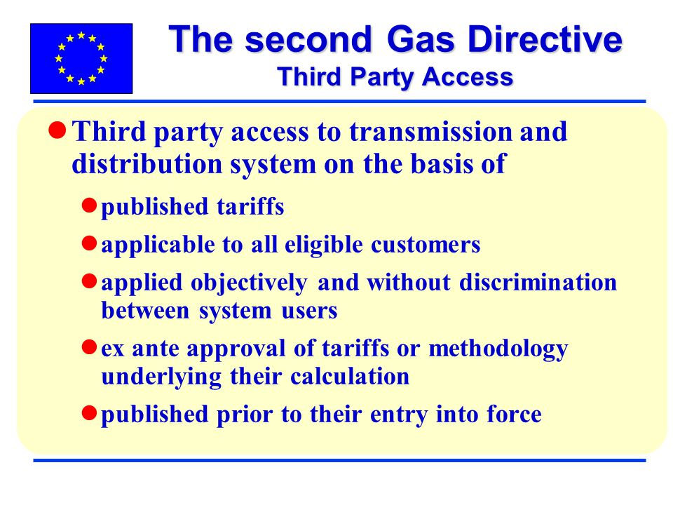 The second Gas Directive Third Party Access