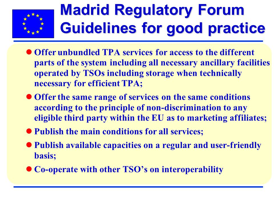 Madrid Regulatory Forum Guidelines for good practice