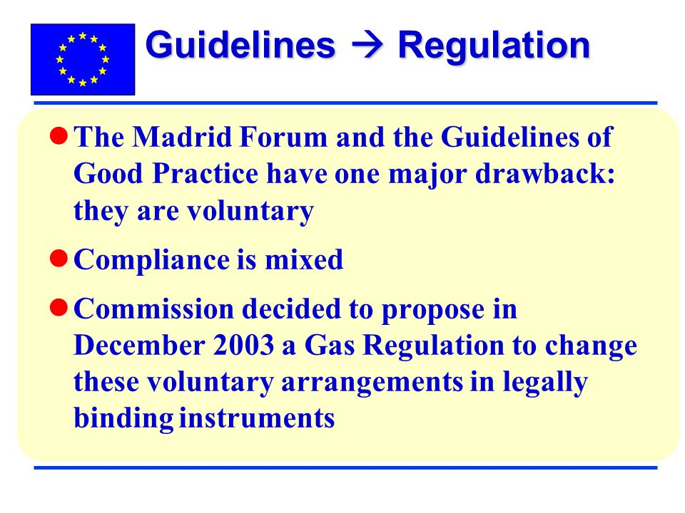 Guidelines  Regulation