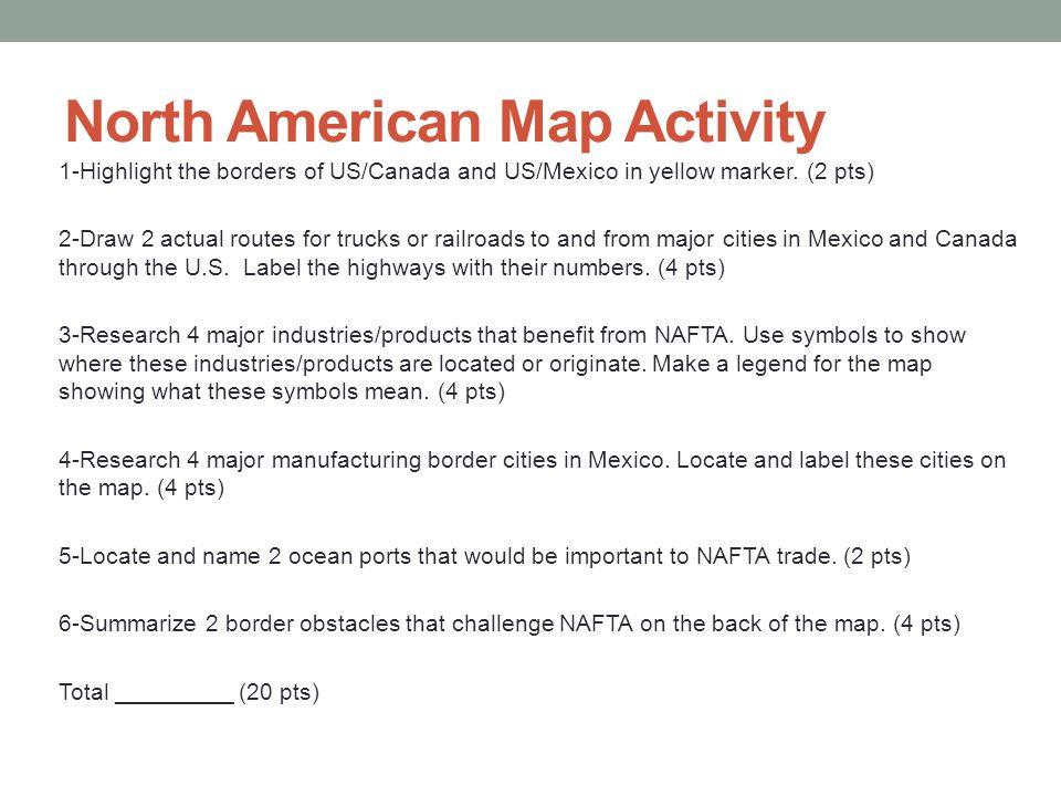 North American Map Activity