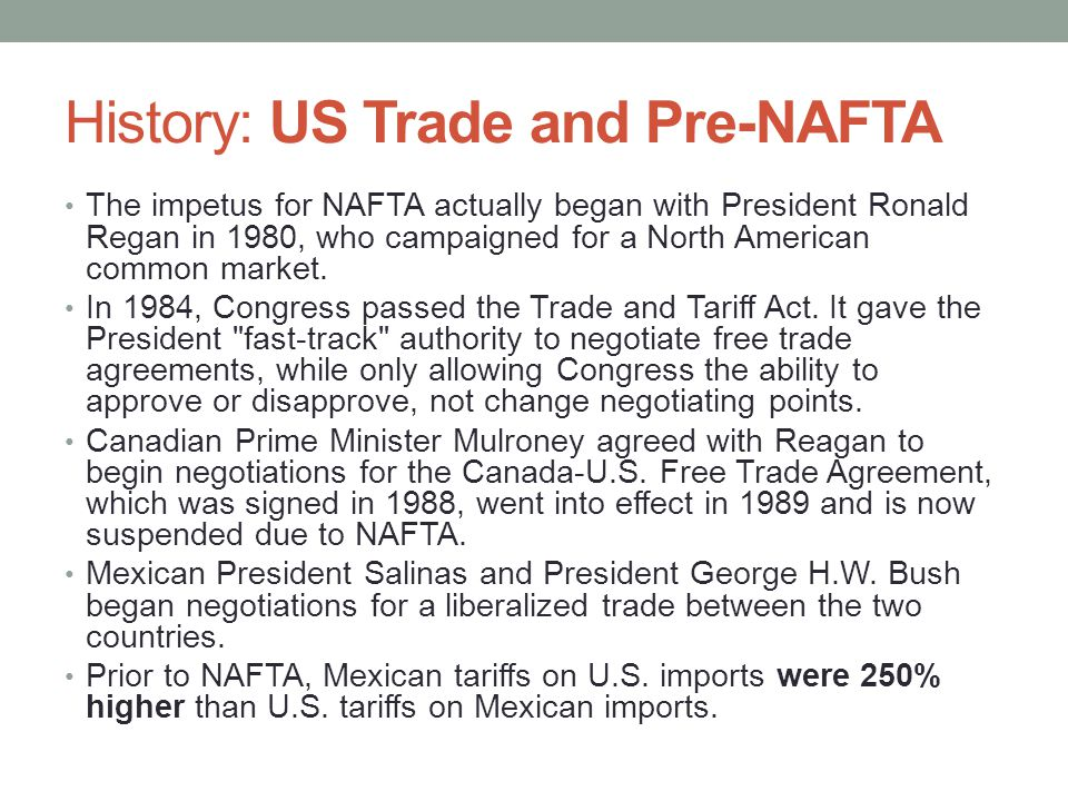 History: US Trade and Pre-NAFTA