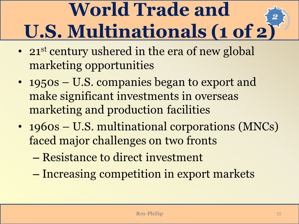 World Trade and U.S. Multinationals (1 of 2)