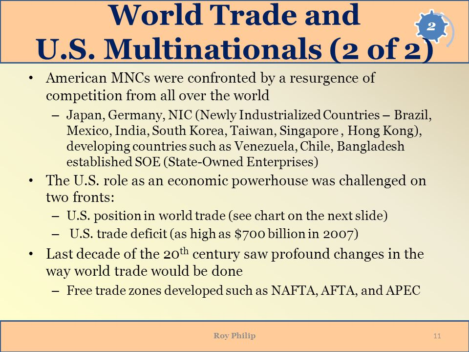 World Trade and U.S. Multinationals (2 of 2)