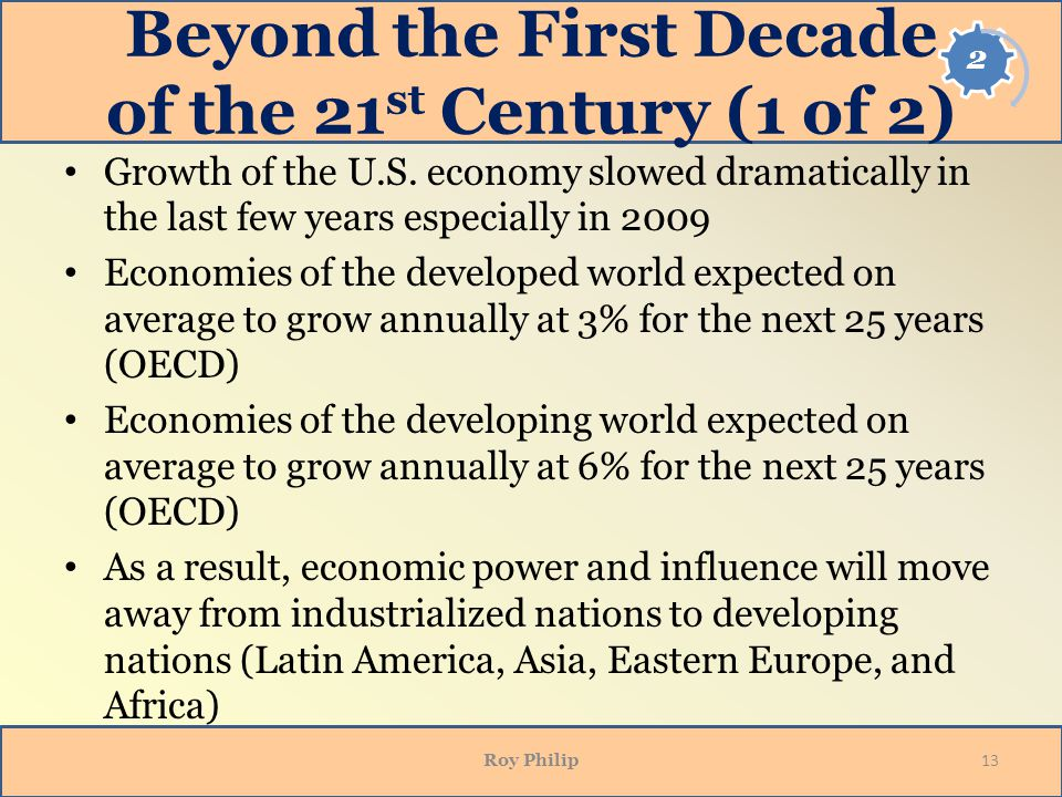 Beyond the First Decade of the 21st Century (1 of 2)