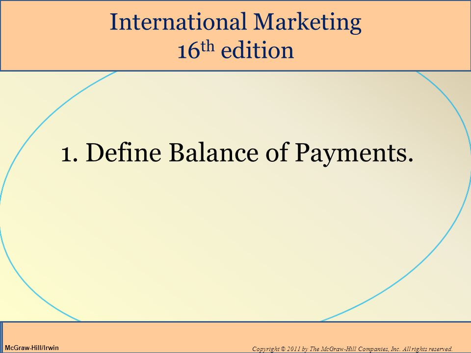1. Define Balance of Payments.