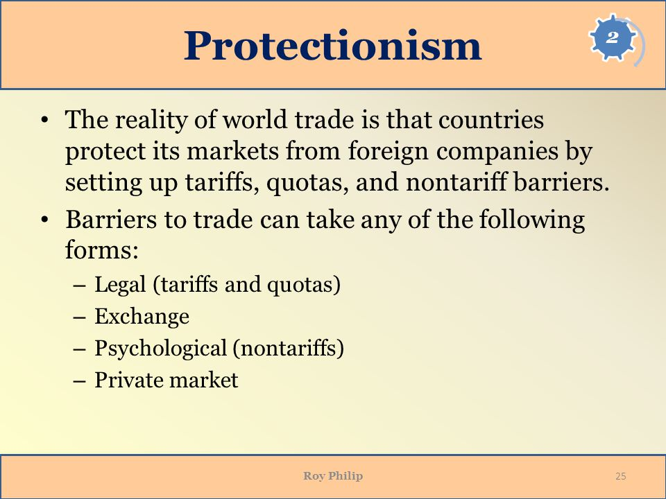 Opening Side Protectionism.
