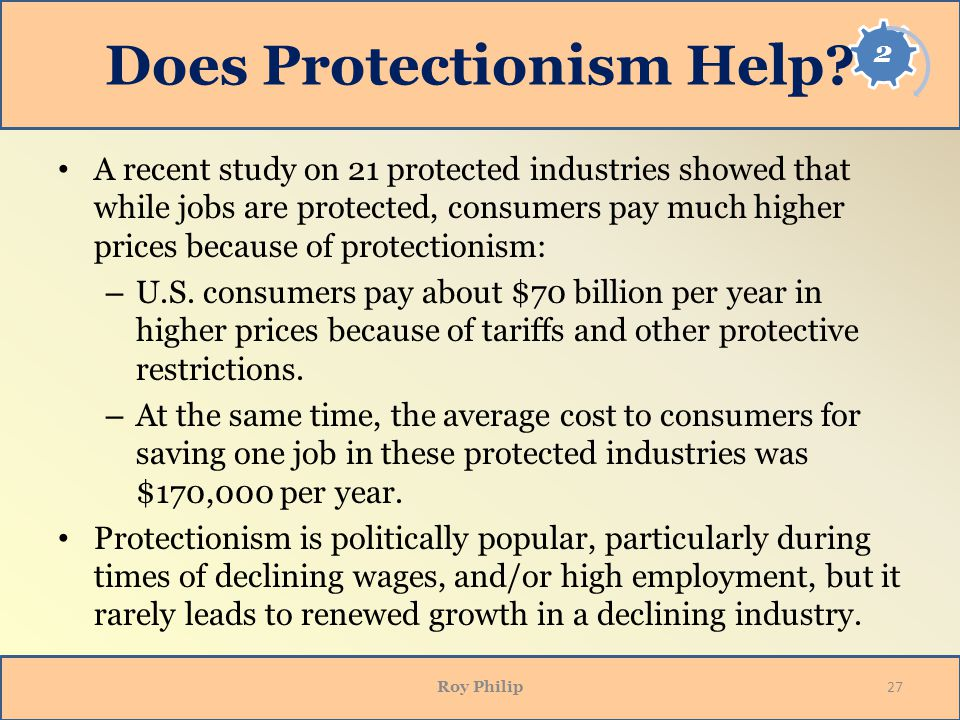 Does Protectionism Help
