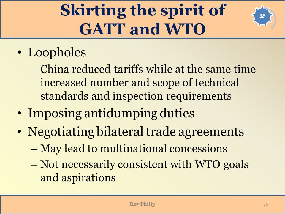 Skirting the spirit of GATT and WTO