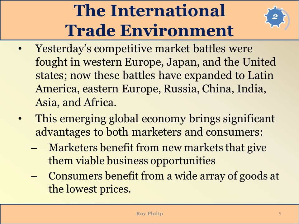 The International Trade Environment