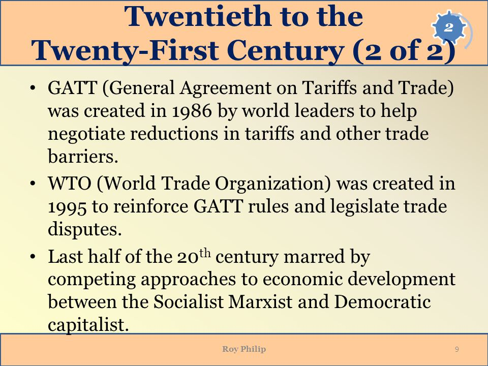 Twentieth to the Twenty-First Century (2 of 2)