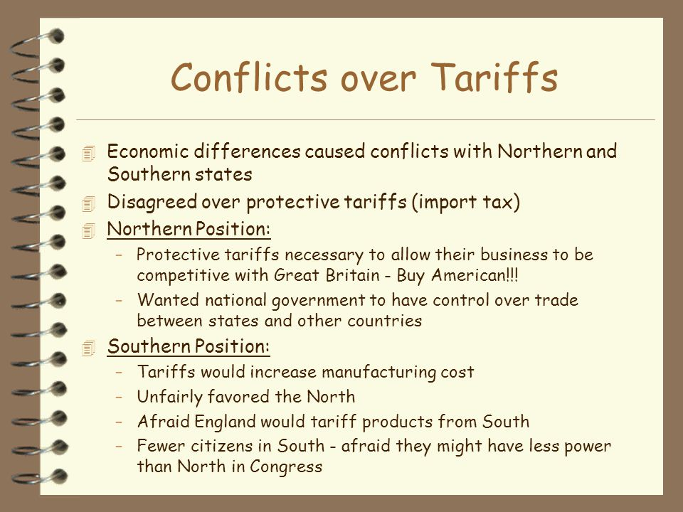 Conflicts over Tariffs