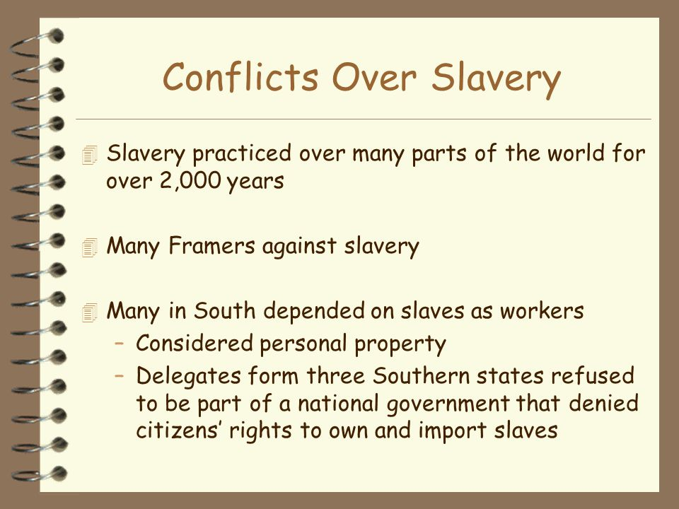 Conflicts Over Slavery