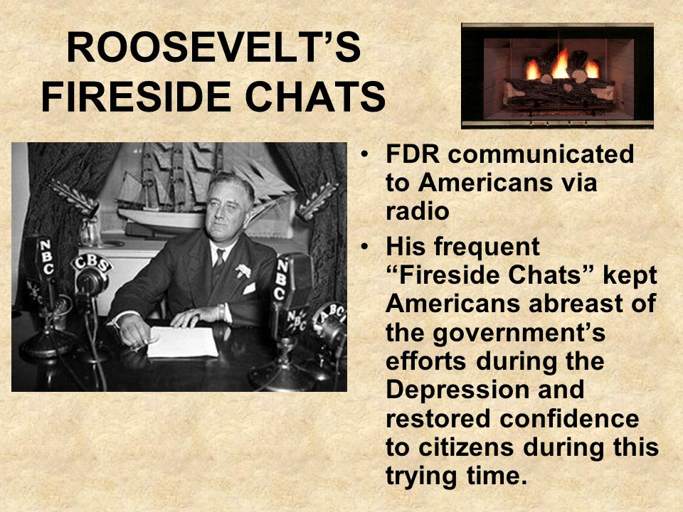 ROOSEVELT'S FIRESIDE CHATS