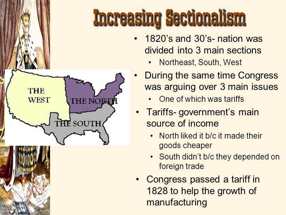 Increasing Sectionalism