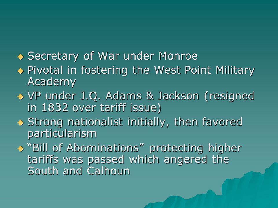 Secretary of War under Monroe