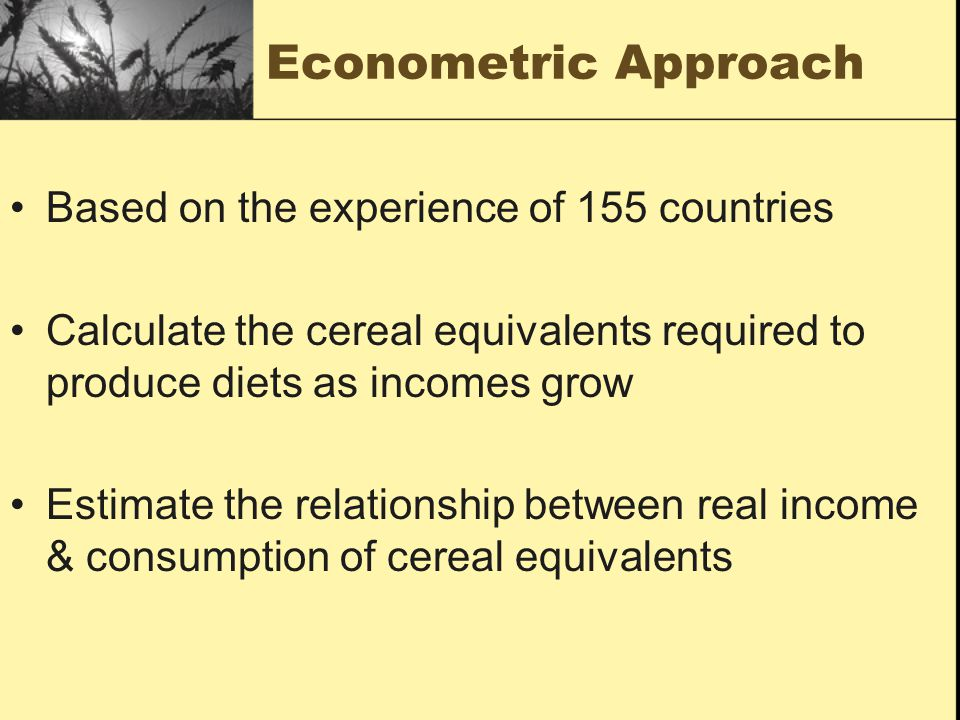 Econometric Approach Based on the experience of 155 countries