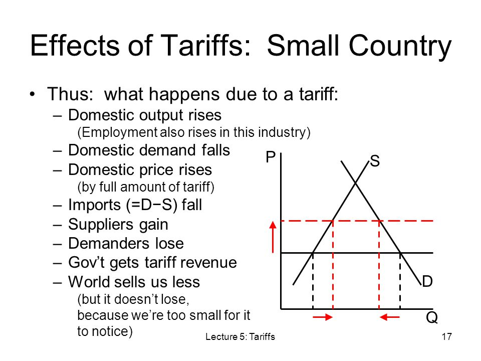 Effects of Tariffs: Small Country