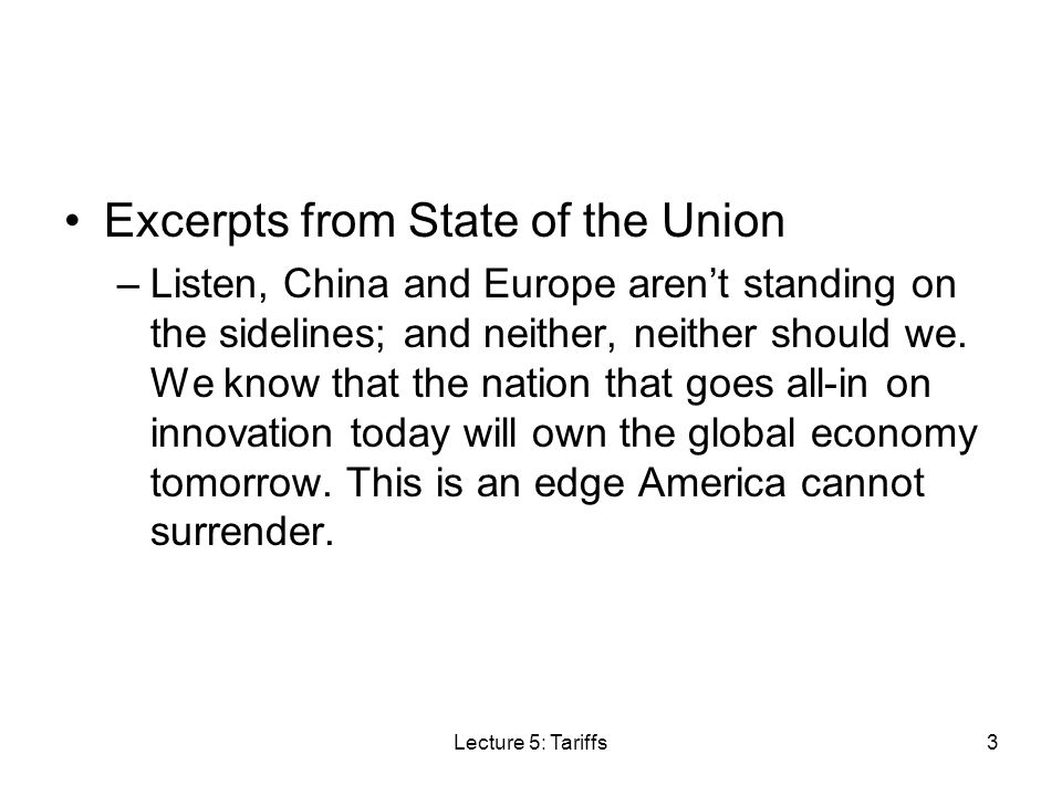 Excerpts from State of the Union