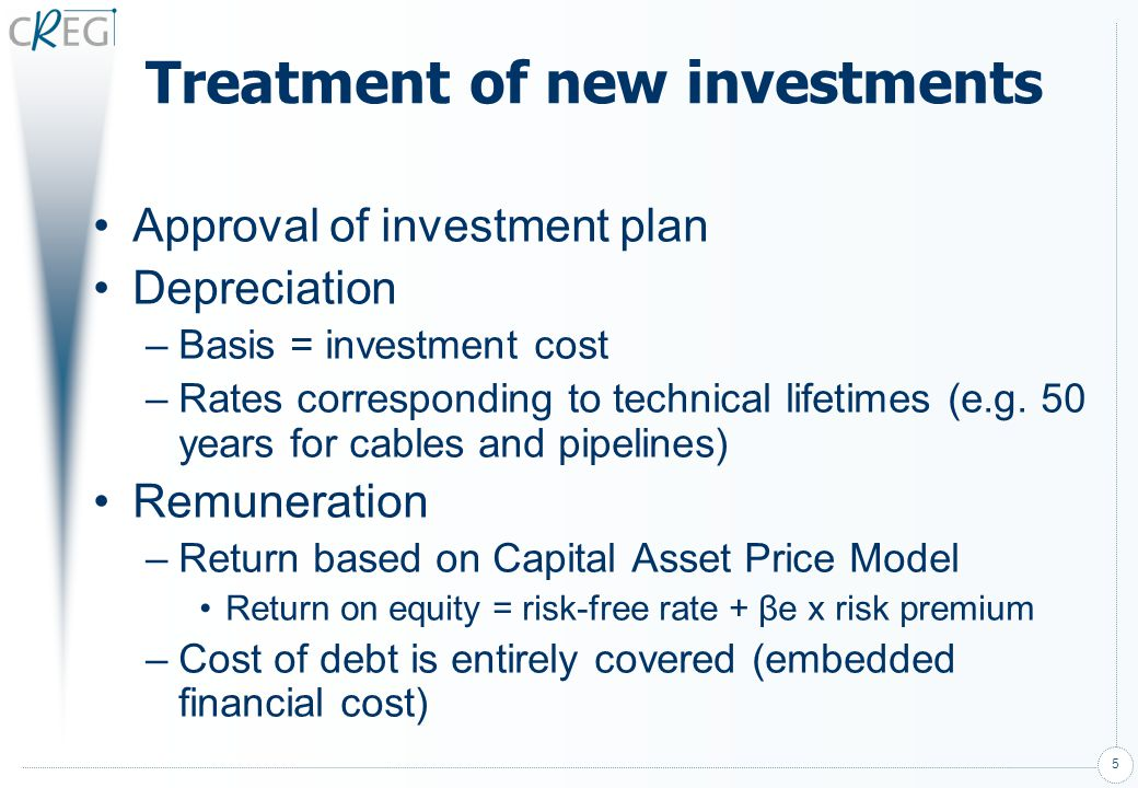 Treatment of new investments