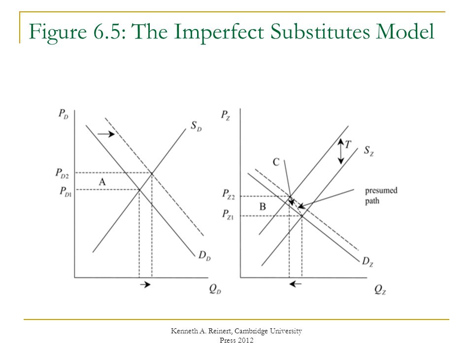 Figure 6.5: The Imperfect Substitutes Model