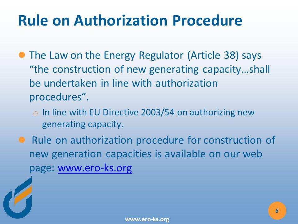 Rule on Authorization Procedure