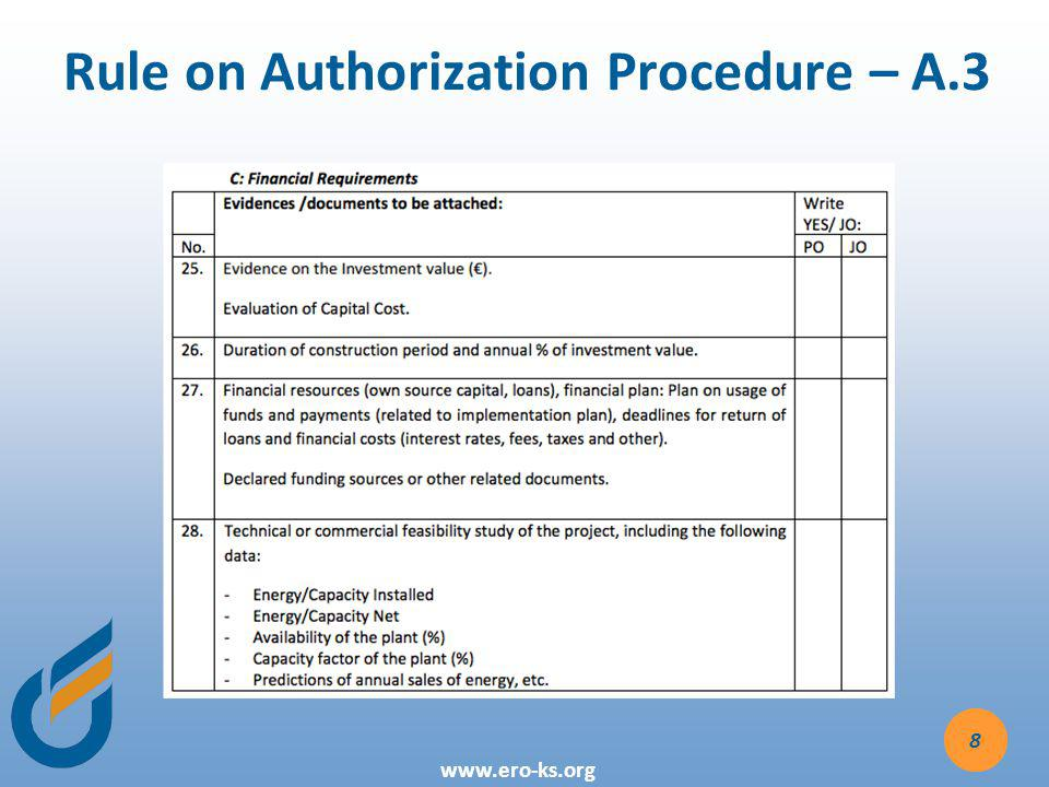Rule on Authorization Procedure – A.3