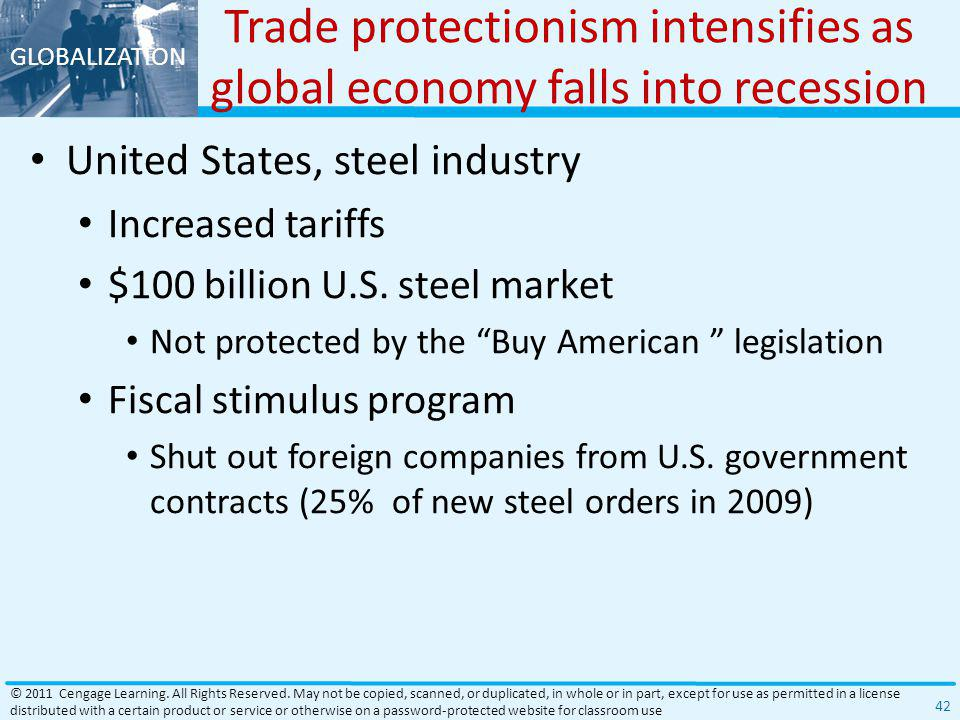 Trade protectionism intensifies as global economy falls into recession