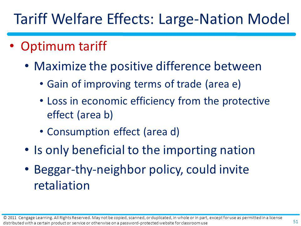 Tariff Welfare Effects: Large-Nation Model