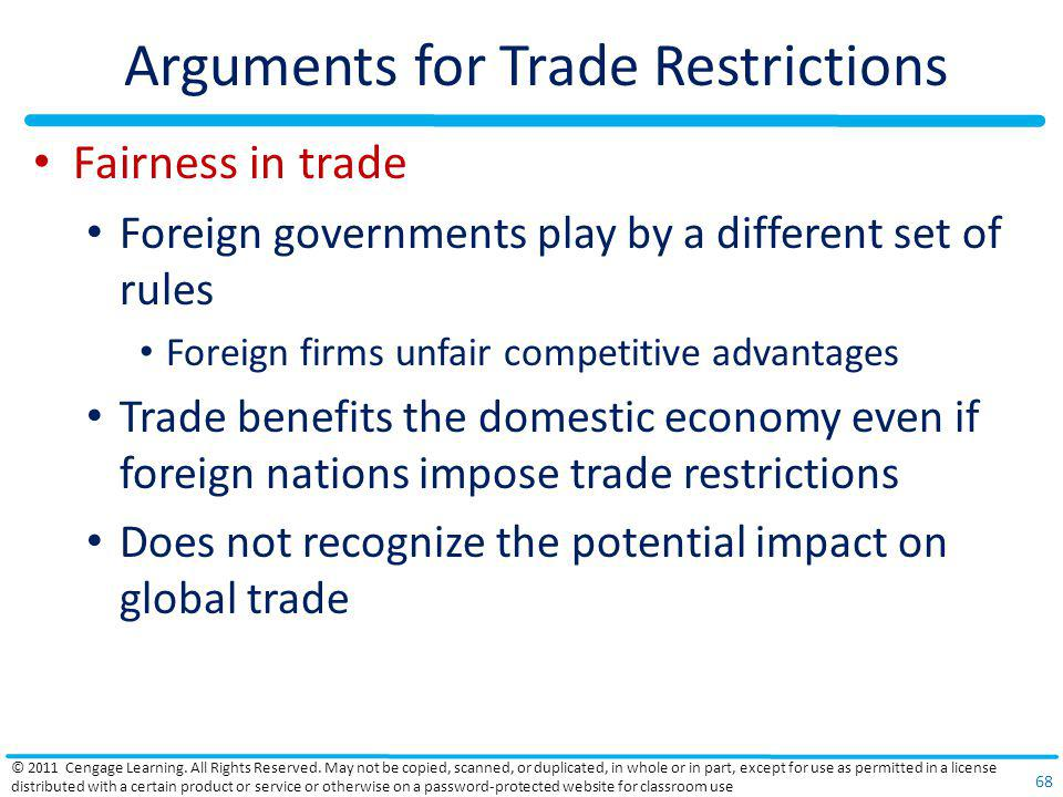 Arguments for Trade Restrictions